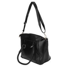 Imagem de Travesseiro feminino simples moda Boston travesseiro maciço de couro pu bolsa crossbody bolsa