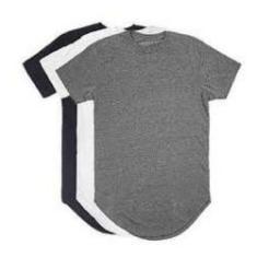 Imagem de Kit Promocional Com 3 Camisetas Oversized Masculina Longline