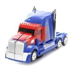 Imagem de Caminhão Transformers Optimus Prime Pilha Vira Robô Som Luz