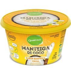 Imagem de Kit 3 Manteiga de coco natural com sal Qualicoco 200g