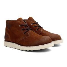 Imagem de Bota Coturno Black Boots Couro Cano Médio Casual Caramelo 37