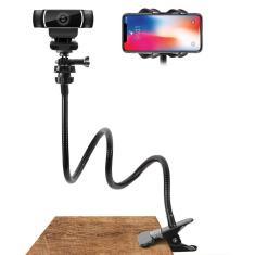 Imagem de Suporte flexível para webcam, suporte para câmera com braçadeira de pescoço de ganso, acessórios