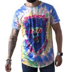 Imagem de Camiseta Masculina Longline OverFame Lobisomem Tie dye md4