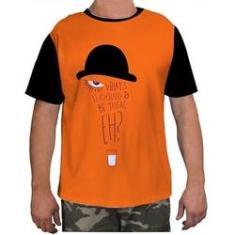 Imagem de Camisa Camiseta Masculina Clockwork Orang Laranja Mecanica 1