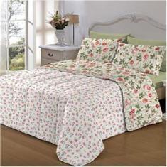 Imagem de Jogo De Cama Casal Giardino 7 Peças Com Edredom Dupla Face Bed In A Bag (imp) Camesa