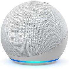 Smart Speaker Amazon Echo Dot 4ª geração com Relógio Alexa
