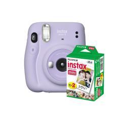 kit Câmera Instantânea Fujifilm Instax Mini 11 Lilás + Filme com 20 Fotos