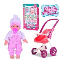 Imagem de Brinquedo Boneca Baby Xixizinho Com Carrinho P/ Bebê Reborn