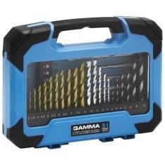 Imagem de Kit Acessórios Gamma Com 51 Peças Para Furadeira E Parafusadeira G19512 Brocas Ponteiras e mais