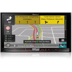 "Central Multimídia Automotiva Pioneer 7 "" AVIC-F80TV Bluetooth USB"