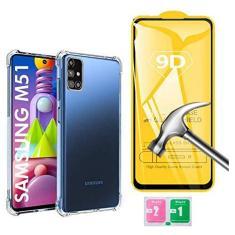 Imagem de Kit Capa Anti Impacto e Película Vidro 9d Compatível Samsung Galaxy M51 Tela 6.67 Polegadas