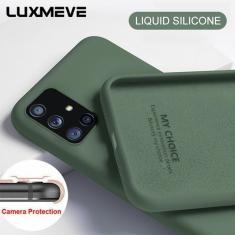 Imagem de Original Líquido Suave Capa de Silicone Para Samsung S21 S20 S10 S9 S8 Plus S20FE A51 A71 A31 A52