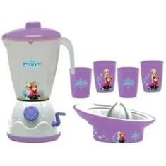 Imagem de Liquidificador Frozen brincar de cozinhar Kit Liquidificador da Frozen Disney original liquidificador de brinquedo