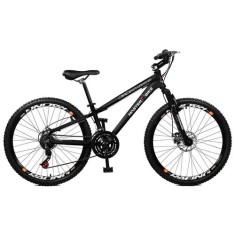 Bicicleta Master Bike 21 Marchas Aro 26 Suspensão Dianteira Freio a Disco Mecânico Free Rider