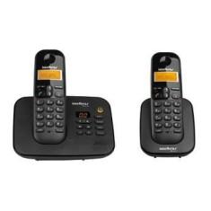 Telefone sem Fio Intelbras com 1 Ramal Secretaria Eletrônica TS 3130 + TS 3111
