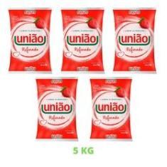 Imagem de Açúcar Cristal Refinado União Pacote 1kg Mais Comum - 5 Unid