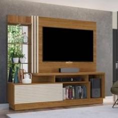 """Imagem de Estante Home Teacher Frizz Plus P/ TV 60"""" Naturale/OffWhite - MADETEC"""