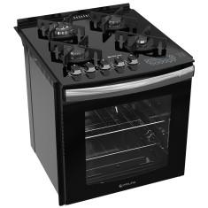 ba4135f1f Fogão de Embutir Atlas Top Gourmet Glass 4 Bocas Acendimento  Superautomático Timer Desligamento Automático