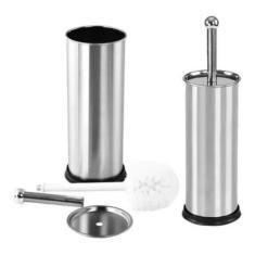 Imagem de Escova De Limpar Vaso Sanitário Suporte Aço Inox Sanitária - Clink