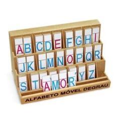 Imagem de Alfabeto Móvel Degrau - Mdf - 130 Pçs - Letra de Forma - Carlu - 1204