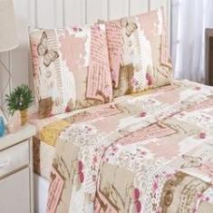 Imagem de Jogo de cama estampado Bouti 4 peças king size patchwork rose