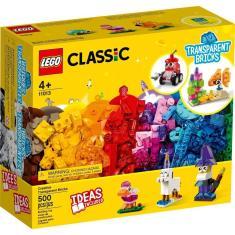 Imagem de LEGO Classic 11013 Blocos Transparentes Criativos 500 Peças