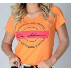 Imagem de T-Shirt Feminina OX Horns laranja 6173