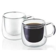 Imagem de Conjunto de Xícaras de Vidro Duplo para Café 100 ml com Alça Mimo Style