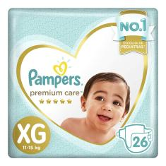 Fralda Pampers Premium Care Tamanho XG 26 Unidades Peso Indicado 11 - 15kg