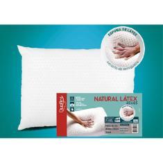 Imagem de Travesseiro de Látex Natural Capa 100% Algodão 45x65cm