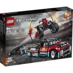 Imagem de Lego Technic Moto e Caminhão De Acrobacias 610 Peças