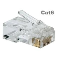 Imagem de 50 Conectores Rj45 Cat6