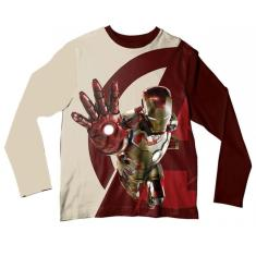 Imagem de Camiseta Adulto Homem de Ferro Bege e  ML