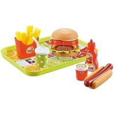Imagem de Kit Fast Food Lanchonete Brinquedo Infantil Com 19 Peças