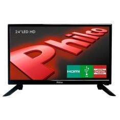 "TV LED 24"" Philco PH24N91D 1 HDMI USB Frequência 60 Hz"