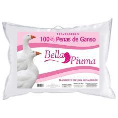Imagem de Travesseiro 100% Penas de Ganso Bella Piuma 50x70 C/ Tratamento Antialérgico 5001BP - Daune -