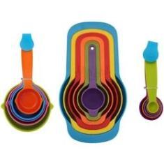 Imagem de Jogo Conjunto Kit Medidores Xícaras Colher Para Receitas