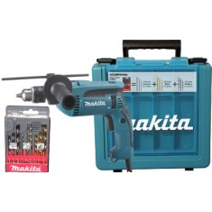 Kit Furadeira Impacto 1/2 680W Makita - HP1640KX1