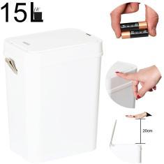 Imagem de Lixeira com sensor automático capacidade 15 litros 15lts 15l para banheiro e cozinha TP15L Tssaper