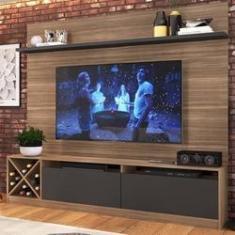 """Imagem de Rack com Painel TV 60"""" 2 Portas Montana e Grafite Lilies"""