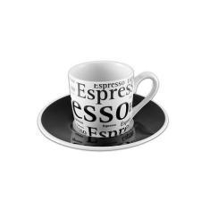 Imagem de Jg de xícara café em porcelana 90ml 12 pçs Espresso - Hauskraft