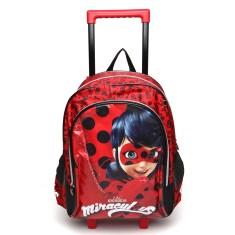 Mochila com Rodinhas Escolar Pacific Miraculous Ladybug G 966G01