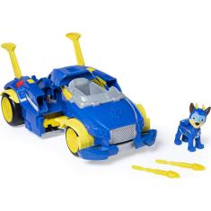 Imagem de Paw Patrol, Mighty Pups Super Paws Chase's Powered Up Cruiser Transforming Vehicle