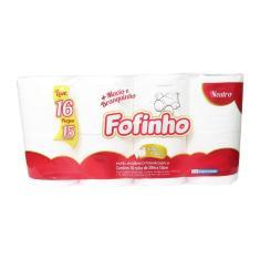 Imagem de Papel Higiênico Fofinho Folha Dupla Neutro 16 Rolos 30,0m