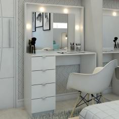 Imagem de Penteadeira Camarim São Francisco Com Espelho Branco - Pnr Móveis