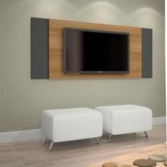 Imagem de Painel Extensivel para TV até 43 Polegadas Jaspe JCM Movelaria Noronha/Grafite / Noronha/Off White Cor Flex