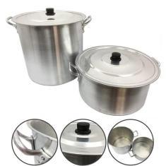 Imagem de Jogo Caçarola e Caldeirão Alumínio Panela Feijoada Sopa N°34