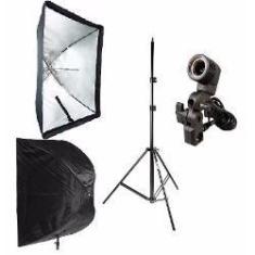 Imagem de Kit Estúdio Fotográfico Iluminação Luz Continua Para Fotografia E Filmagem Softbox 60x90cm