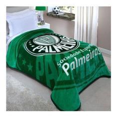 Imagem de Cobertor Corttex Palmeiras Solteiro verde Estampado