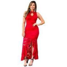 Imagem de Vestido Longo Feminino Festa Em Renda Gripir Ref7705